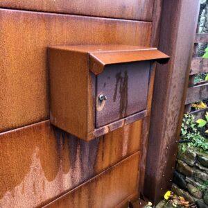 COR-TEN Gates Post Box