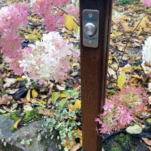 COR-TEN Gates Exit Button